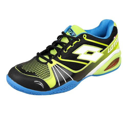 Lotto David Ferrer Stratosphere Speed All Court Shoe Men - Black, Neon Green