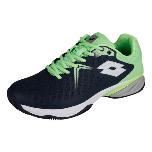 Lotto Space 400 Clay Court Shoe Men - Dark Blue, Lime