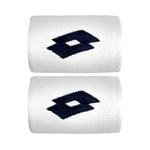 Lotto Ace II Wristband 2 Pack - White, Dark Blue