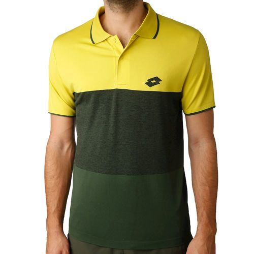 Lotto Tech SML Polo Men - Lime, Dark Green