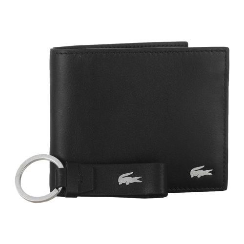Lacoste Large Billfold & Coin & Key Ring Wallet - Black