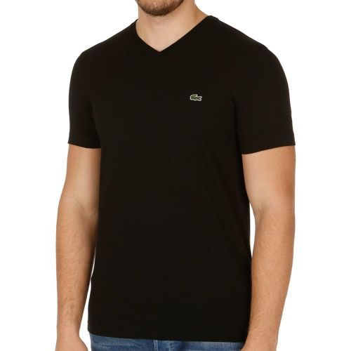 Lacoste Performance Short Shortsleeved V-Neck T-Shirt Men - Black