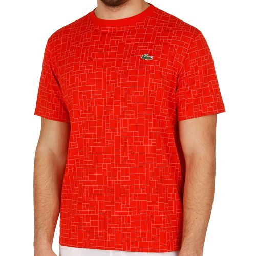 Lacoste Performance T-Shirt Men - Red, White