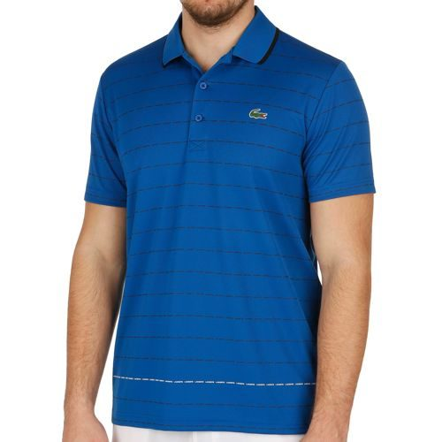 Lacoste Performance Shortsleeved Ribbed Collar Polo Men - Blue, Black