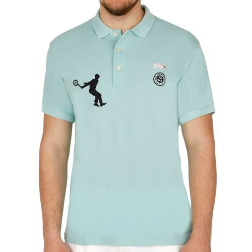 Lacoste Performance Shortsleeved Ribbed Collar Polo Men - Green, Dark Blue