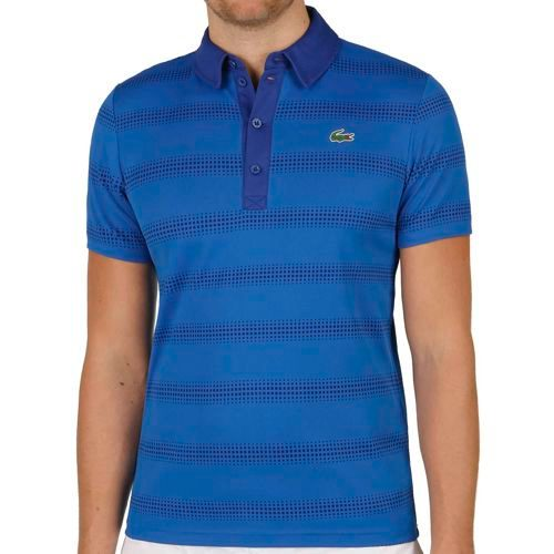 Lacoste Performance Shortsleeved Ribbed Collar Polo Men - Violet, Blue