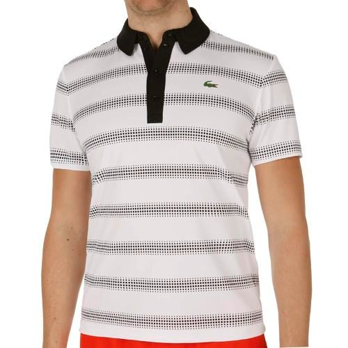 Lacoste Performance Shortsleeved Ribbed Collar Polo Men - White, Black