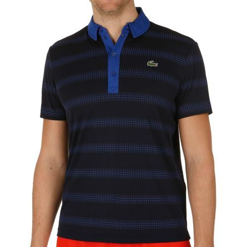 Lacoste Performance Shortsleeved Ribbed Collar Polo Men - Dark Blue, Blue