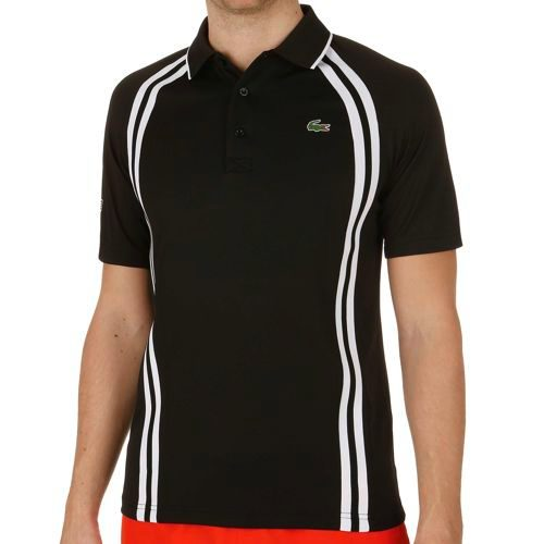 Lacoste Performance Shortsleeved Ribbed Collar Polo Men - Black, White