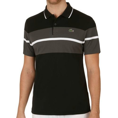 Lacoste Performance Shortsleeved Ribbed Collar T-Shirt Men - Black, Grey