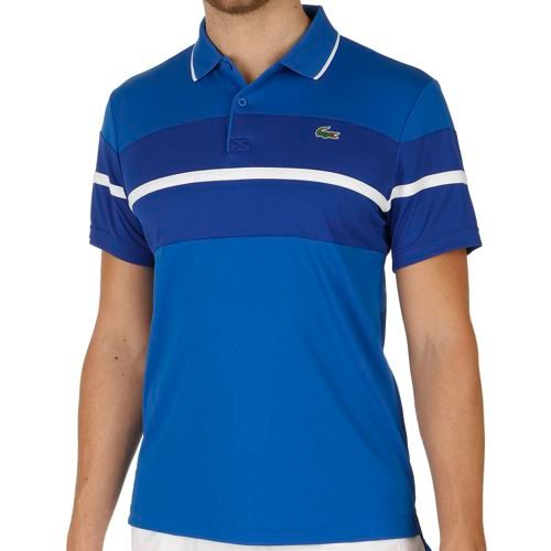 Lacoste Performance Shortsleeved Ribbed Collar T-Shirt Men - Violet, Blue