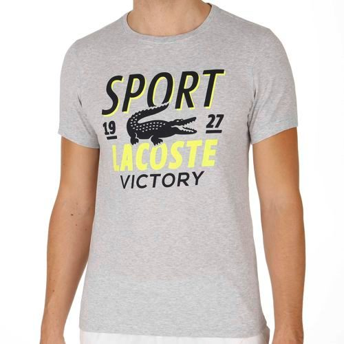 Lacoste Performance T-Shirt Men - Silver, Neon Yellow