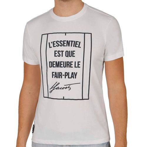 Lacoste Roland Garros T-Shirt Men - White, Dark Blue