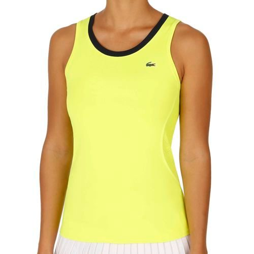 Lacoste Performance Sleeveless Tank Top Women - Yellow, Blue
