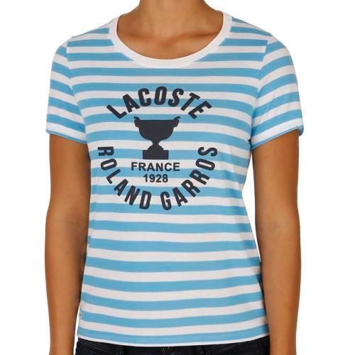 Lacoste Roland Garros T-Shirt Women - Light Blue, White