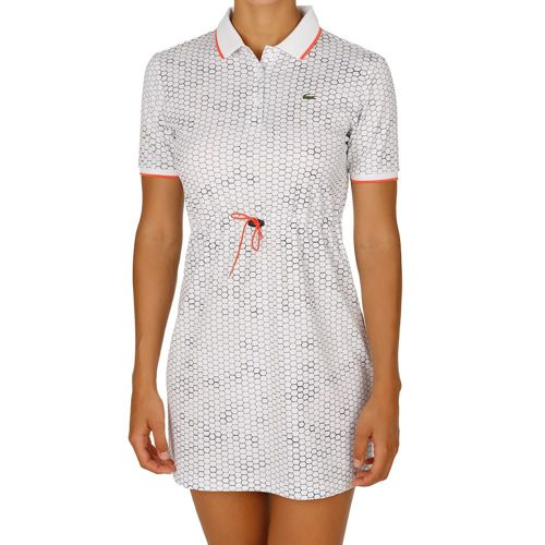 Lacoste Performance Dress Women - White, Dark Blue