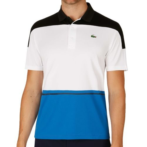 Lacoste Short Sleeved Ribbed Collar Polo Men - Black, White
