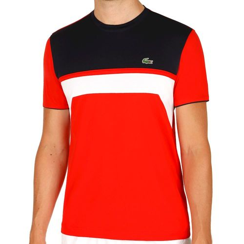 Lacoste Performance T-Shirt Men - Orange, Dark Blue