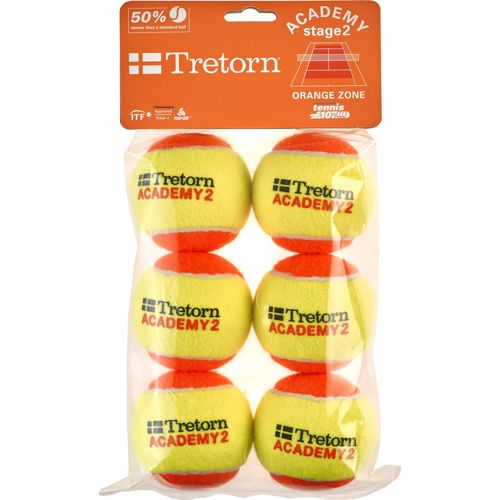 Tretorn Academy Orange (Stage 2) 6 Pack