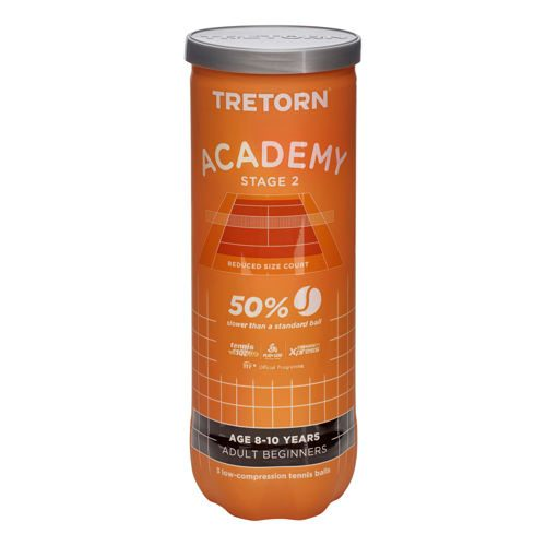 Tretorn Academy Orange Stage 2 3 Ball Tube