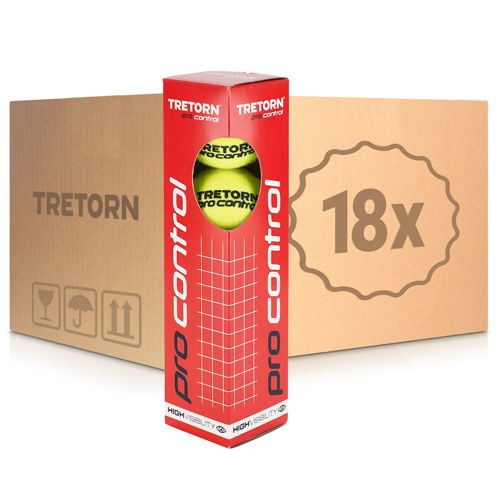 Tretorn Pro Control 18x 4 Ball Tube In A Carton