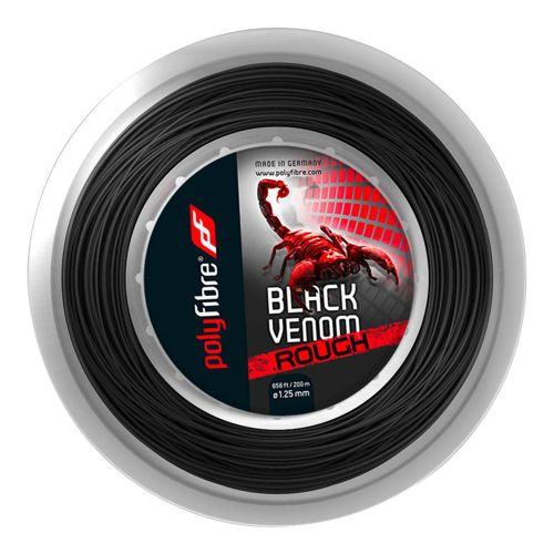 Polyfibre Venom Rough String Reel 200m - Black