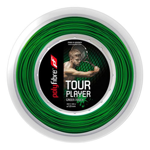 Polyfibre Tour Player Touch String Reel 200m - Green