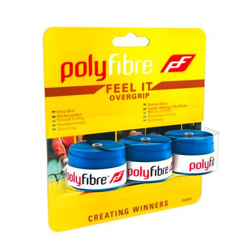 Polyfibre Feel It Grip 3 Pack - Blue