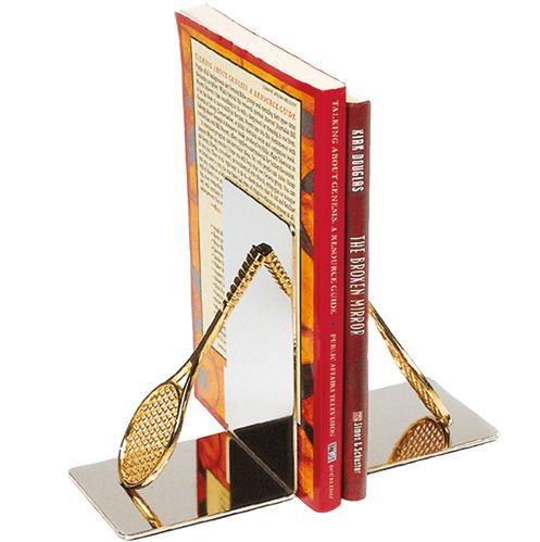Tourna Tennis Bookends 2 Pack - Silver, Gold