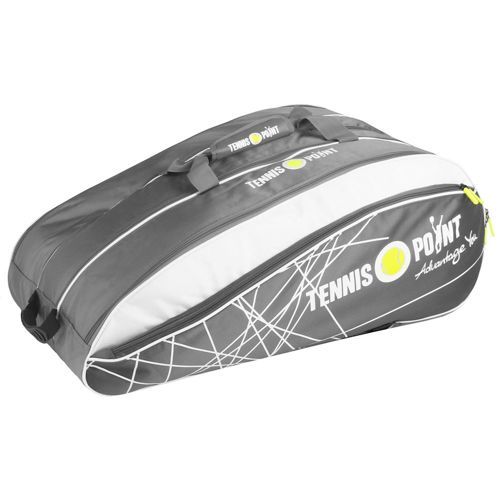 Tennis-Point Racket Bag 12 Pack - Silver, White