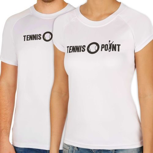Tennis-Point Funktions Logo Crew T-Shirt - White, Black