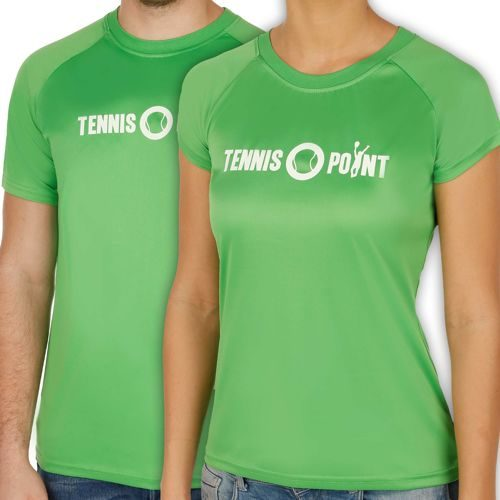 Tennis-Point Funktions Logo Crew T-Shirt - Green, White