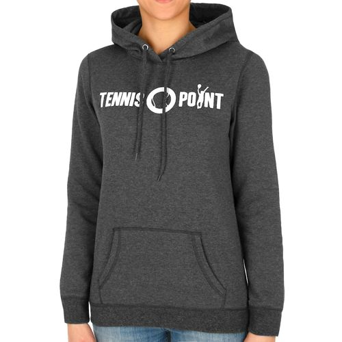 Tennis-Point Classic Logo Hoody Women - Dark Grey, White