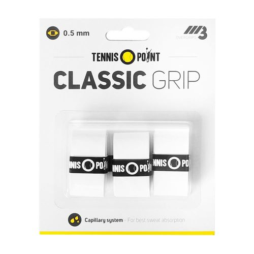 Tennis-Point Classic Grip 3 Pack - White