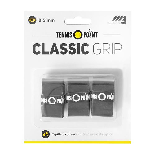 Tennis-Point Classic Grip 3 Pack - Black