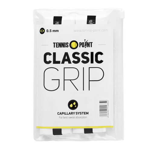 Tennis-Point Classic Grip 12 Pack - White