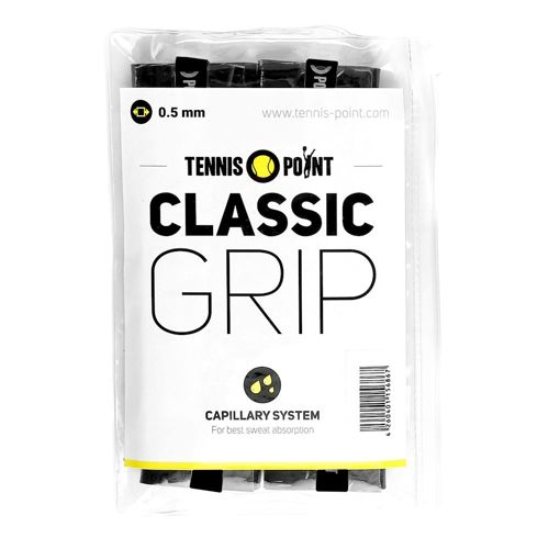 Tennis-Point Classic Grip 12 Pack - Black