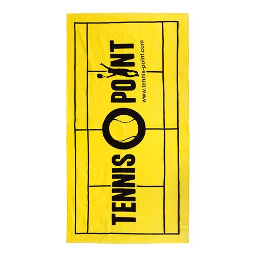 Tennis-Point Big Graphic Towel 70x140cm - Yellow, Black