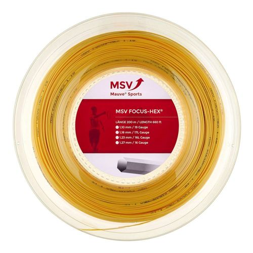 MSV Focus-HEX String Reel 200m - Yellow