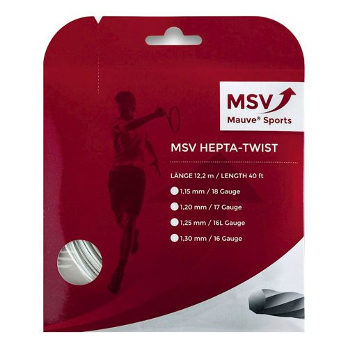 MSV Hepta - Twist String Set 12m - White