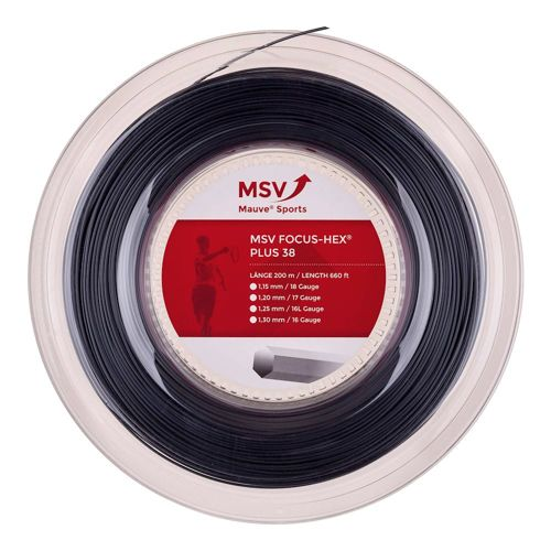 MSV Focus-HEX Plus 38 String Reel 200m - Black