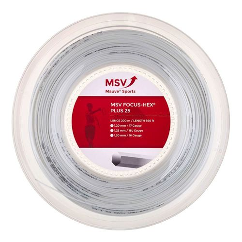 MSV Focus-HEX Plus 25 String Reel 200m - White
