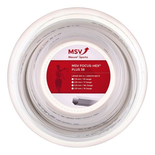 MSV Focus-HEX Plus 38 String Reel 200m - White