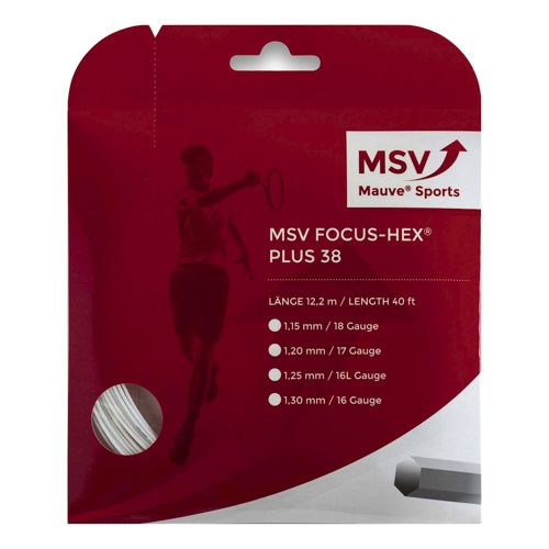 MSV Focus-HEX Plus 38 String Set 12m - White