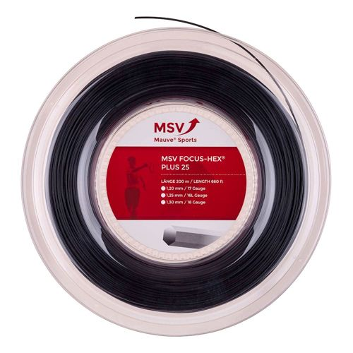 MSV Focus-HEX Plus 25 String Reel 200m - Black