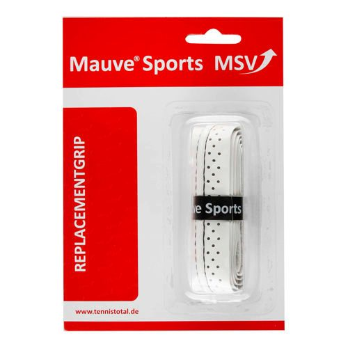 MSV Basic Grip Soft-Stich Perforated And Stitched 1 Pack - White