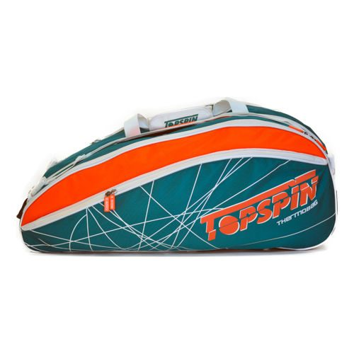 Topspin Tourtex Racket Bag 10 Pack - Turquoise, Orange
