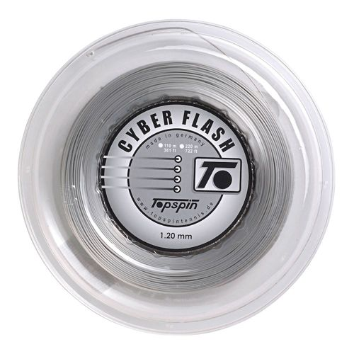 Topspin Cyber Flash String Reel 220m - Silver
