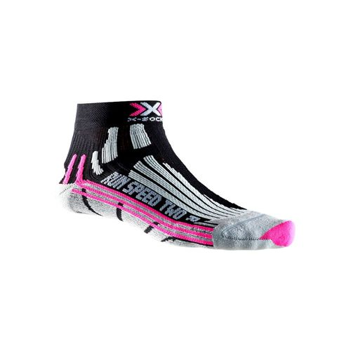 X-SOCKS Speed Two Socks 1 Pack Women - Black, Pink