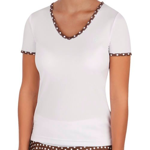 Limited Sports Performance Silvy Dots T-Shirt Women - White, Brown